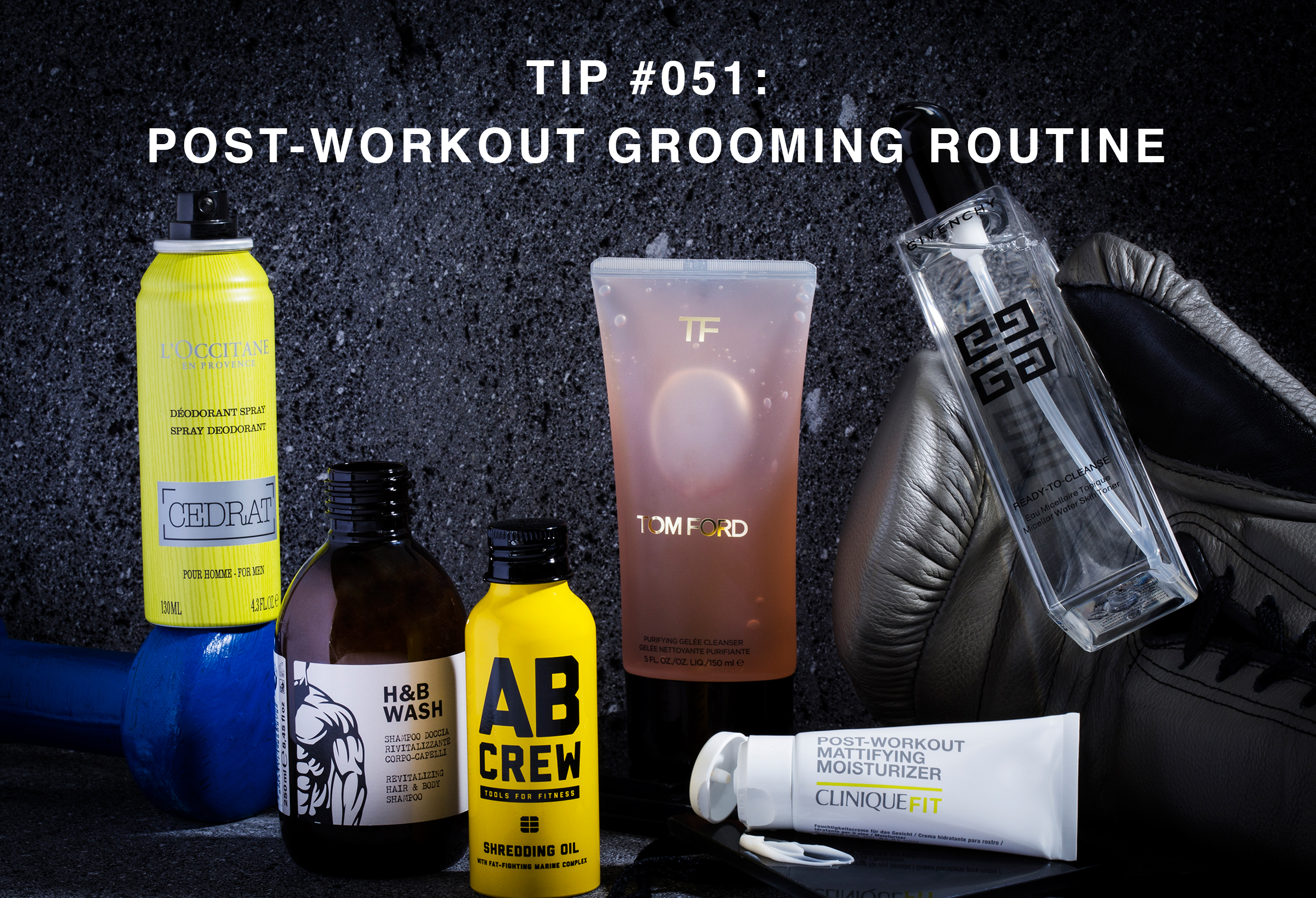 The perfect post-gym grooming routine